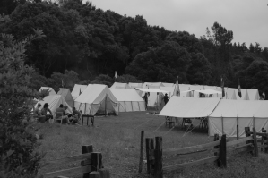 A small portion of the Civil War Encampment - Yard Goat Images Photo